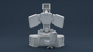 scfi console 3D model