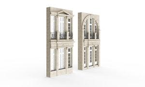 3D classic exterior windows model
