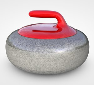 curling stone 3D