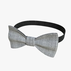 3D realistic bow tie 01 model