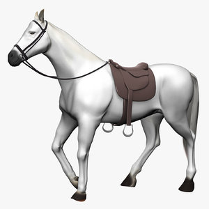 3D horse rigged biped