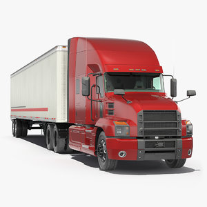 3D semi truck trailer generic model