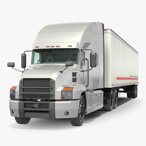 3D semi truck trailer generic