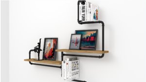 3D industrial shelves