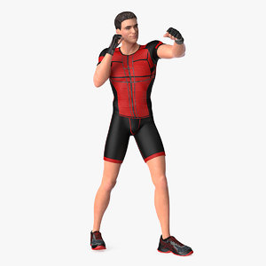 fitness trainer rigged 3D model