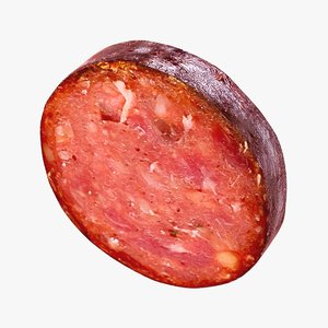 3D realistic sausage slice model