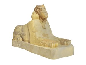 sphinx ancient monument 3D model