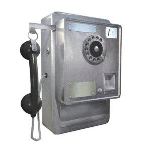 3D pay phone model