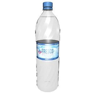 3D model bottle beverage drink