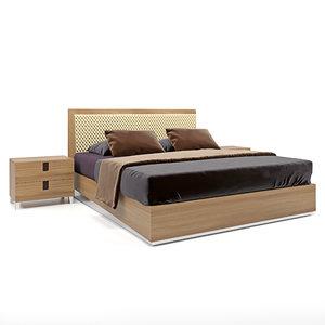 3D model ambra camelgroup bed