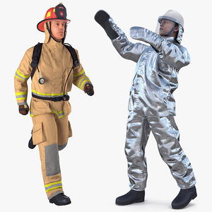 3D firefighters rigged