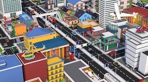 pack buildings street 3D model