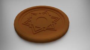 3D coaster sahasrara crown