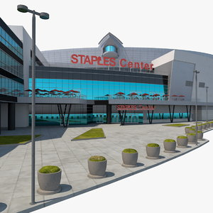 staples center multi-purpose arena 3D