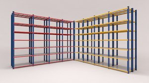 3D shelf factories warehouses stores