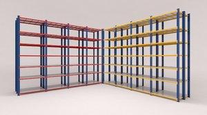 3D shelf factories warehouses stores