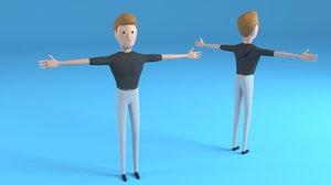 male character chuck 3D model