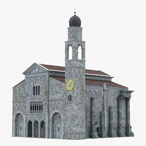 church european europe building 3D
