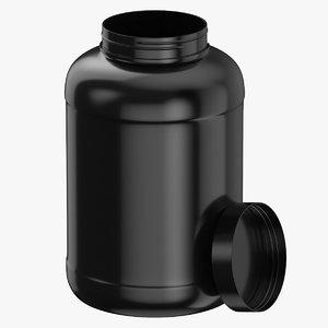 plastic bottle wide mouth 3D model