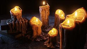 candles dark epic 3D model