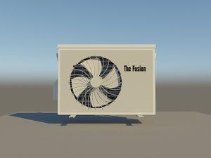 3D split outdoor unit model
