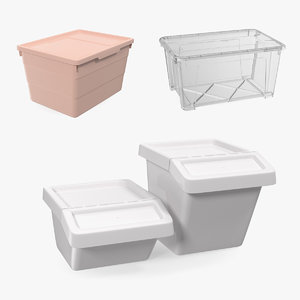 3D model storage containers lid