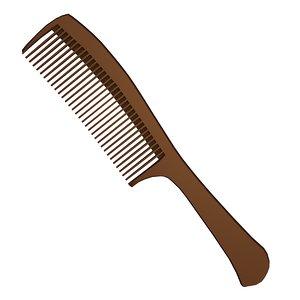 3D hair brush hairbrush model