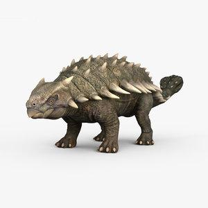 3D ankylosaurus dinosaurs animal