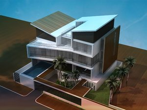 acp house elevation 3D model