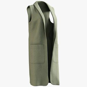 realistic women s vest 3D model