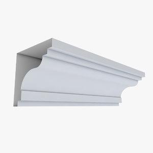 cornice 65 straight 3D model