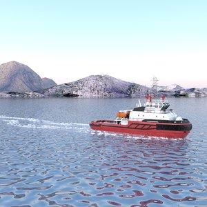 3D rescue tug boat