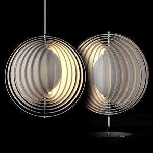 verner panton moon lamp model