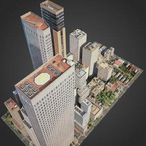 city exterior streets 3D