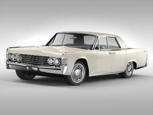 continental sedan 1965 3D model