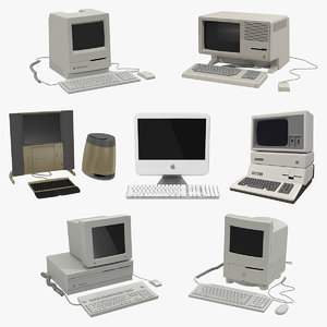 3D retro apple computers 2 model