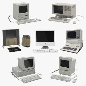 3D retro apple computers 2 model