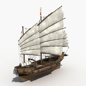 3D model sail sailboat boat