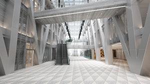 modern architecture building model