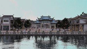 cityscape chinese city modern model