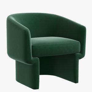 3D armchair interior design model