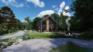 barn house modern model
