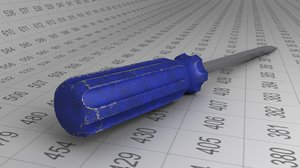 3D screwdriver pbr