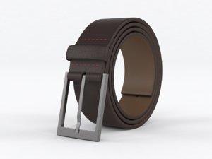 realistic leather belt 3D