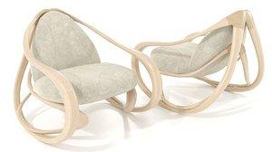 3D model rocking armchair