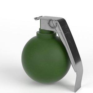 m67 fragmentation hand grenade 3d max