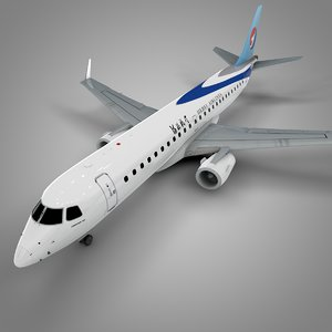3D hebei airlines embraer190 l616 model