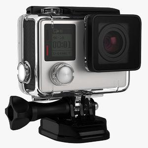 action camera aqua box 3D