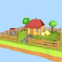 Cartoon Country House