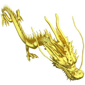 3D chinese golden dragon